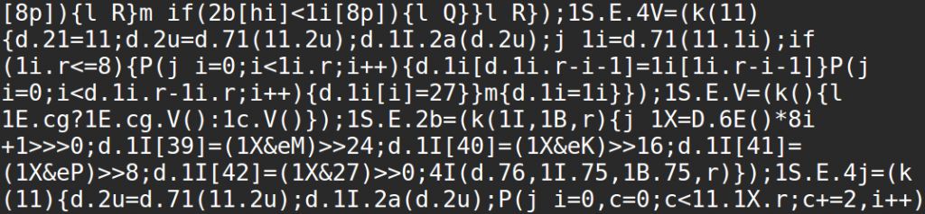 Obfuscated js