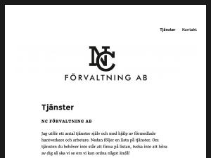 NC Förvaltning AB website thumbnail